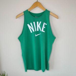 Nike Dri-Fit Athleisure Green Tank Top Size Medium